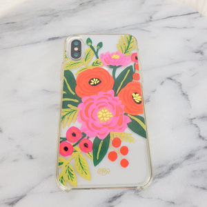 rifle paper co iPhone X Floral & Clear Case